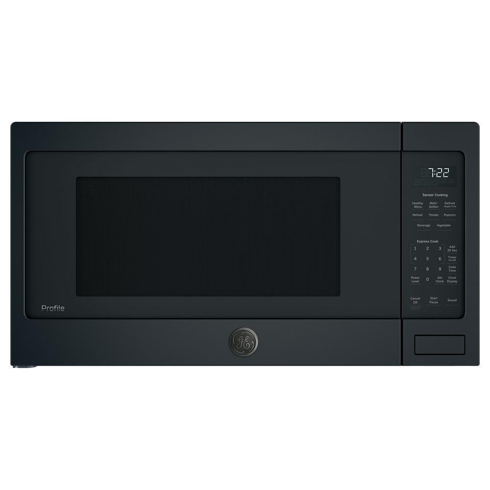 GE Profile 2.2 cu. ft. Countertop Microwave in Black Slate with Sensor Cooking, Fingerprint Resistant
