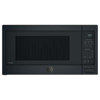 Profile 2.2 cu. ft. Countertop Microwave in Black Slate with Sensor Cooking, Fingerprint Resistant