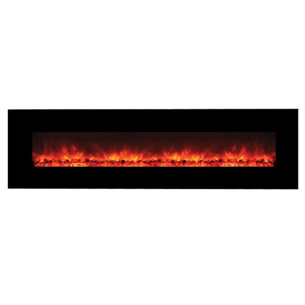 Master Of Romance 95 In Wall Mount Electric Fireplace In Black Fp95 The Home Depot
