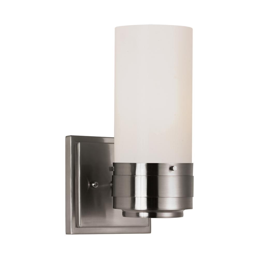 Fusion 1-Light Brushed Nickel Sconce