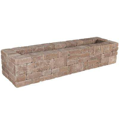 RumbleStone 89 in. x 17.5 in. x 24.5 in. Rectangle Concrete Planter Kit in Cafe