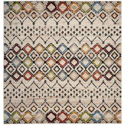 Amsterdam Ivory/Multi 6 ft. 7 in. x 6 ft. 7 in. Square Area Rug