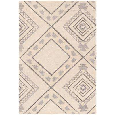 Casablanca Ivory/Gray 4 ft. x 6 ft. Area Rug