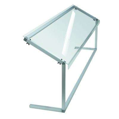 73.37 in. Long Fixed Height Sneeze Guard Crystal with Aluminum Frame