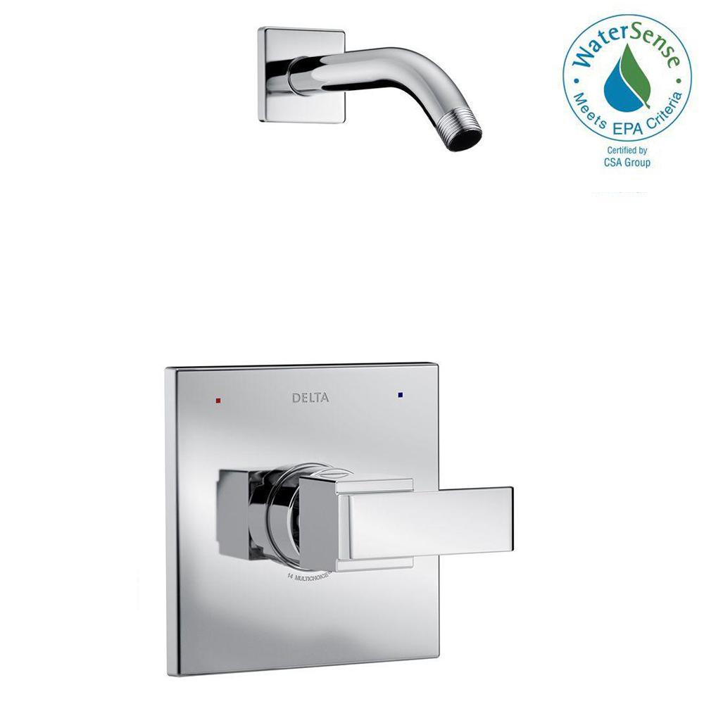 Ara 1-Handle Wall Mount Shower Faucet Trim Kit in Chrome (Valve