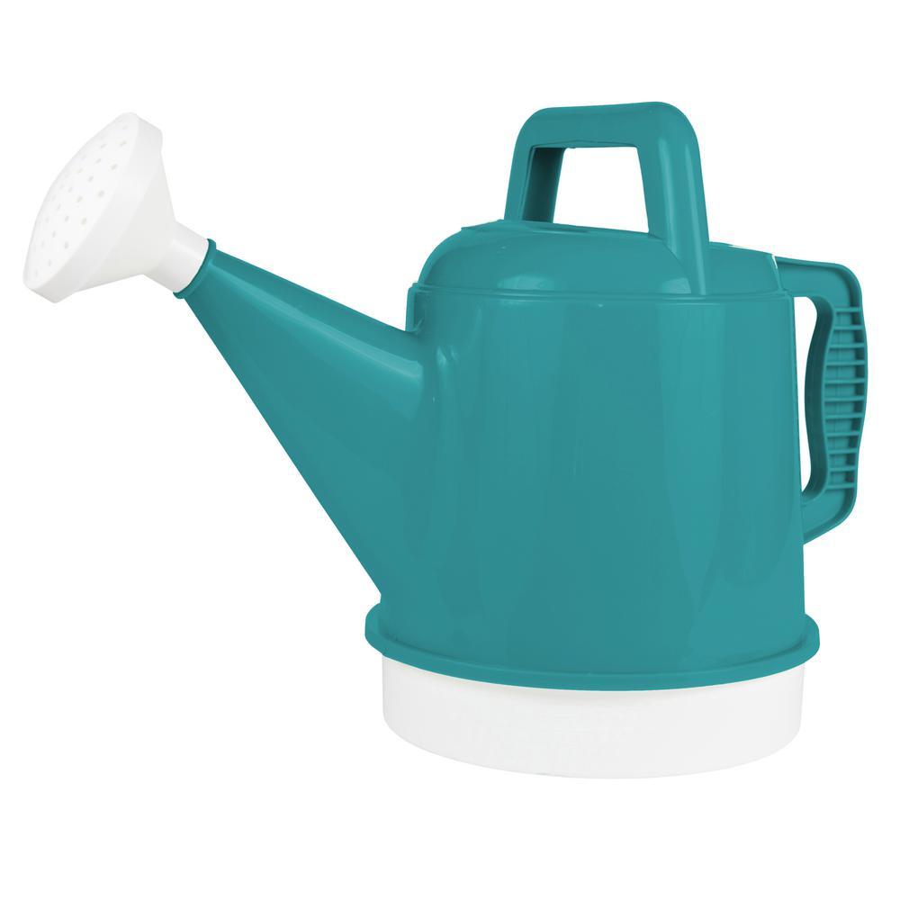Deluxe 2.5 Gal. Bermuda Teal Plastic Watering Can