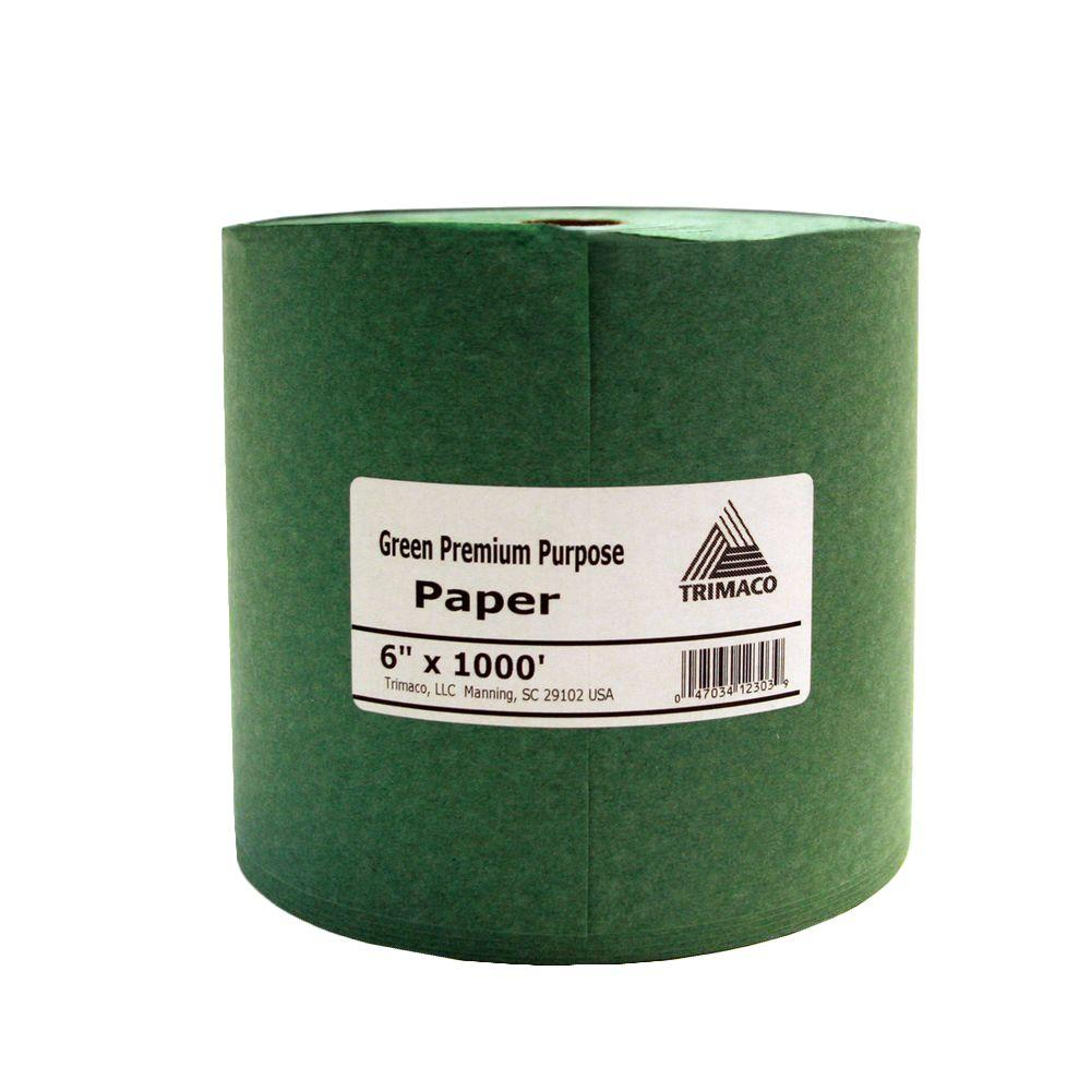 6 in. x 1000 ft. Green Masking Paper