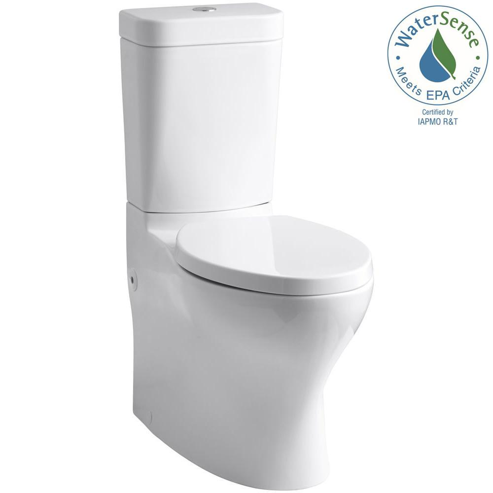 KOHLER Persuade Circ 2-piece 1.0 or 1.6 GPF Dual Flush Elongated Toilet in White