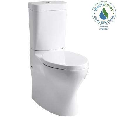 Persuade Circ 2-piece 1.0 or 1.6 GPF Dual Flush Elongated Toilet in White