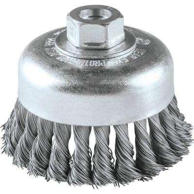 4 in. x 5/8 in.-11 Knot Wire Cup Brush