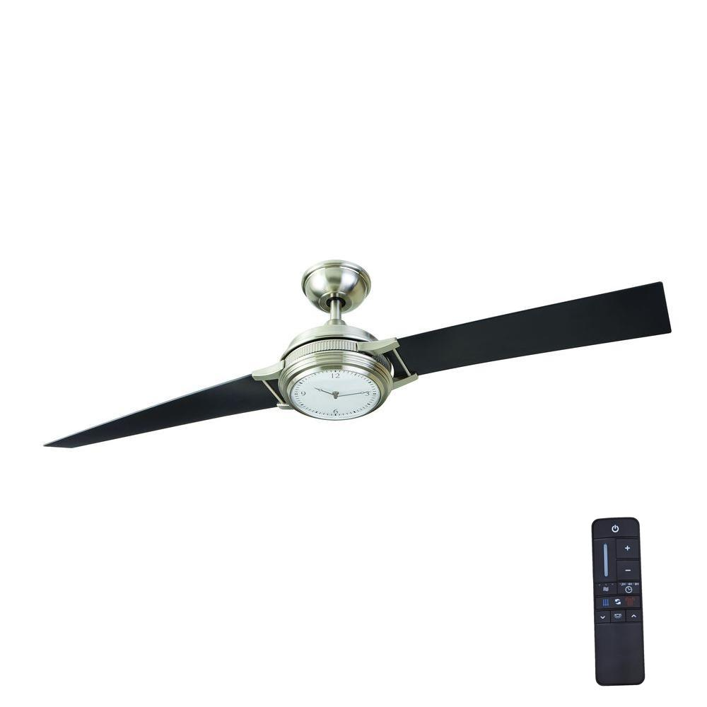 Home Decorators Collection Breckenridge 56 In Led Indoor Brushed Nickel Ceiling Fan With Remote