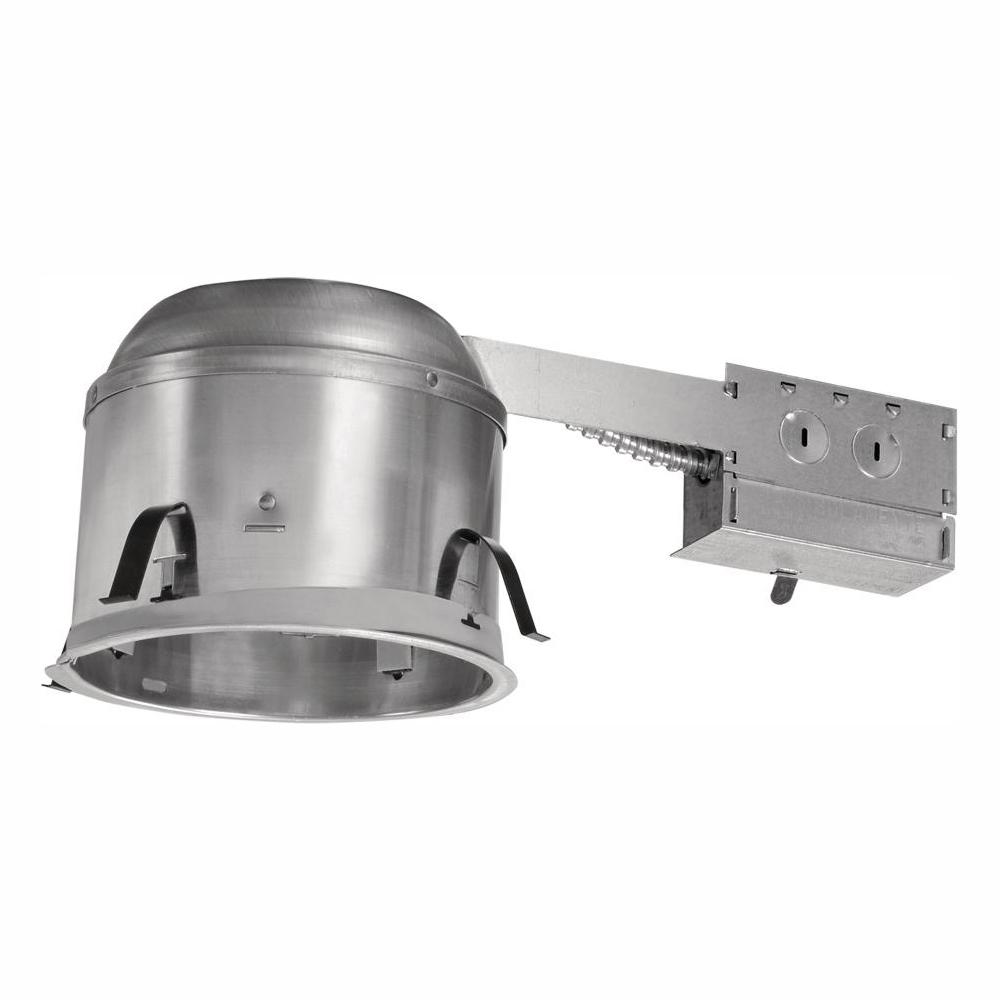 Halo H27 6 In Aluminum Recessed Lighting Housing For Remodel Shallow Ceiling Insulation Contact Air Tite 6 Pack H27ricat 6pk The Home Depot