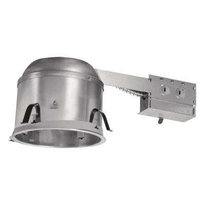 H27 6 in. Aluminum Recessed Lighting Housing for Remodel Shallow Ceiling, Insulation Contact, Air-Tite (6-Pack)