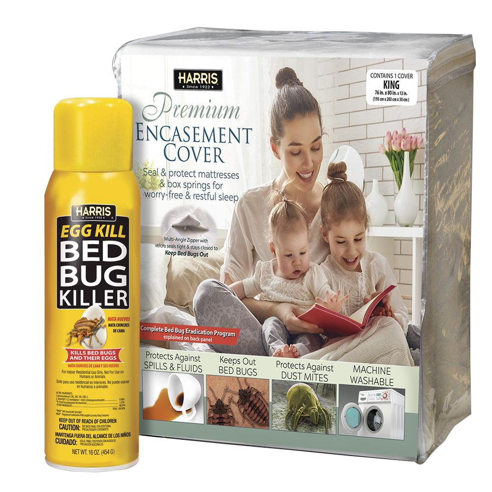 Harris King Bed Bug Mattress Cover and Bed Bug Spray - Va...