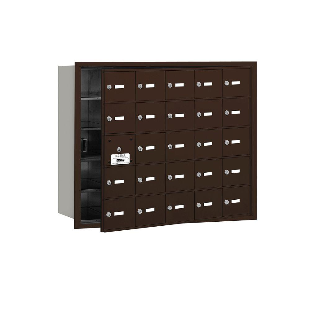 3600 Series Bronze Private Front Loading 4B Plus Horizontal Mailbox with
