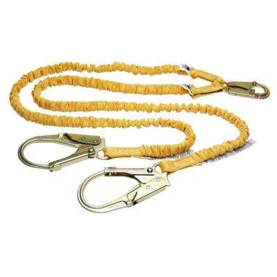 Upgear 6 ft. SoftCoil Twin Leg Lanyard (Energy Absorbing Inner Core, Snap Hook, Rebar Hook)