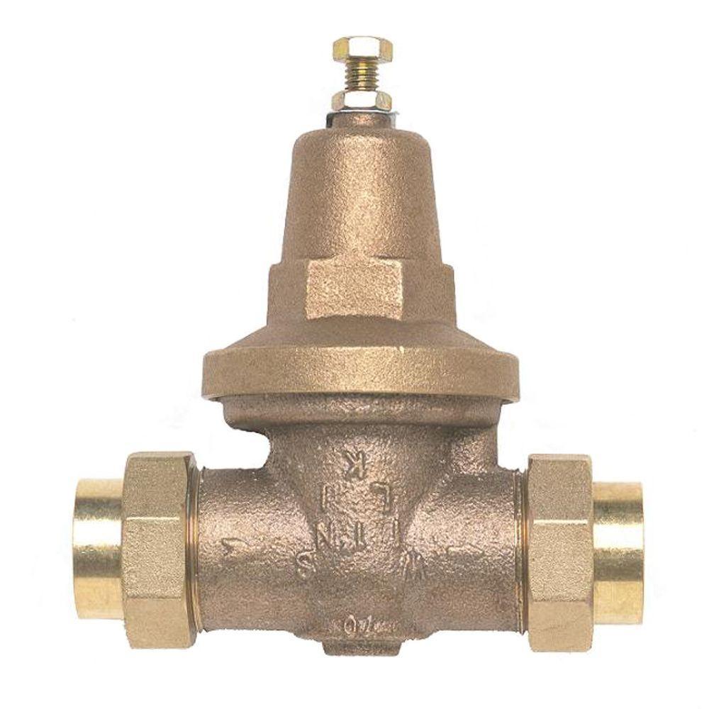 1 in. Brass Water Pressure-Reducing Double-Union FNPT Valve