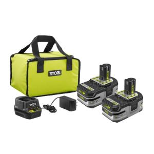 Deals on 2-Pack RYOBI 18V ONE+ LI+ HP 3.0 Ah Battery Starter Kit w/Charger and Bag