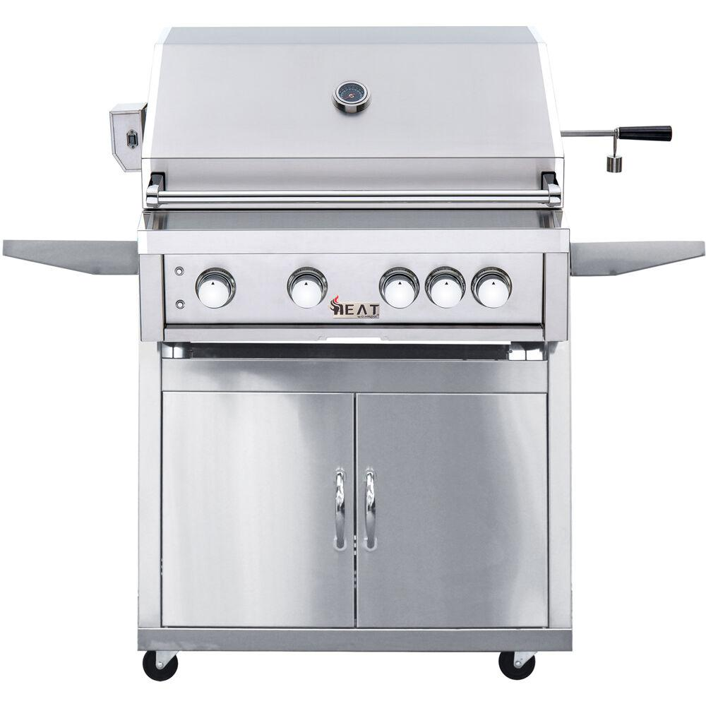 Cambridge 32 in. 4-Burner Natural Gas Grill in Stainless with Cart
