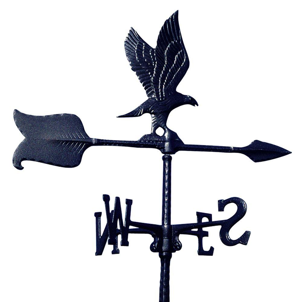 Whitehall Products 24 in. Black Eagle Accent Weathervane