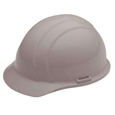 Liberty 4 Point Plastic Suspension Slide-Lock Cap Hard Hat in Gray