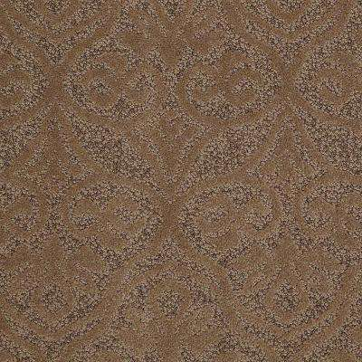 Carpet Sample - Perfectly Posh - In Color Pony Tail 8 in. x 8 in.