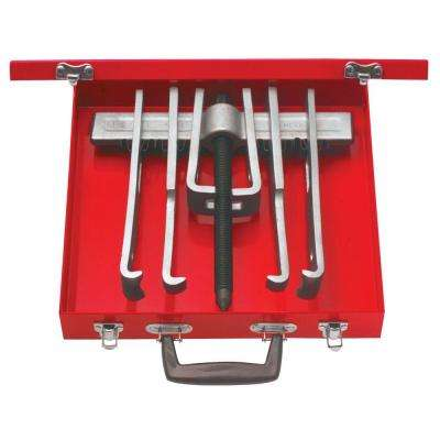 12 Piece Cased Set of 10 Ton 2 Arm Pullers with 6 Jaws