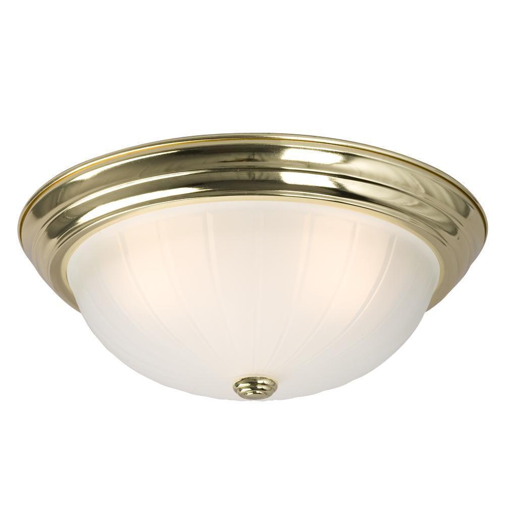 Filament Design Negron 3-Light Polished Brass Incandescent Flush Mount