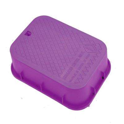12 in. x 17 in. x 6 in. Deep Extension Valve Box in Purple Body Purple Lid