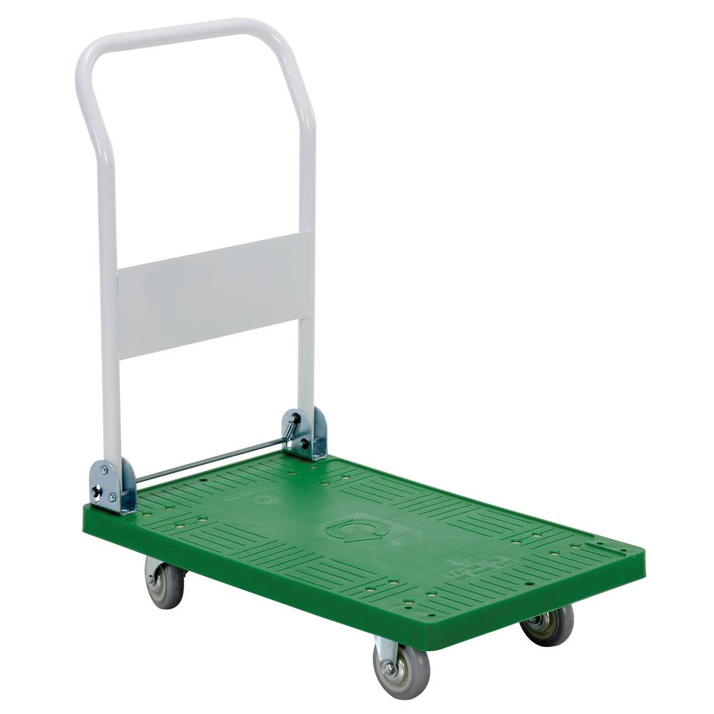 250 lb. 30 in. x 18 in. Plastic Platform Truck with