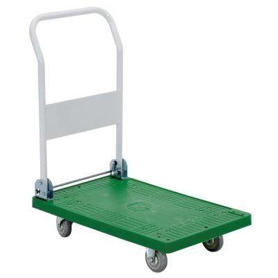 250 lb. 30 in. x 18 in. Plastic Platform Truck with Folding Handle
