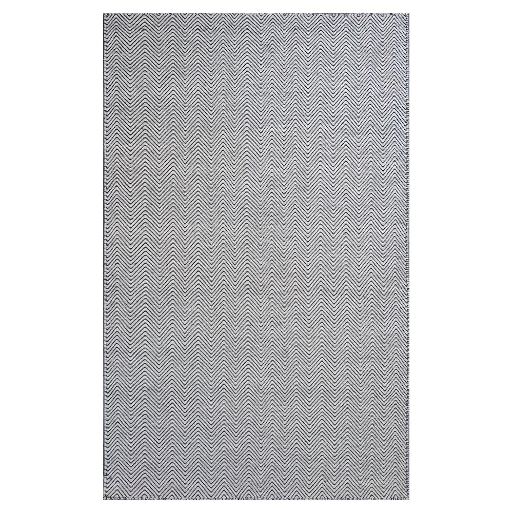 Kas Rugs Casual Dhurrie Ivory/Black 8 ft. x 10 ft. Area Rug