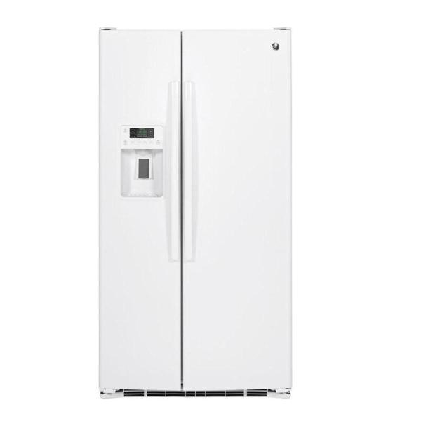 25.4 cu. ft. Side by Side Refrigerator in White with Icemaker