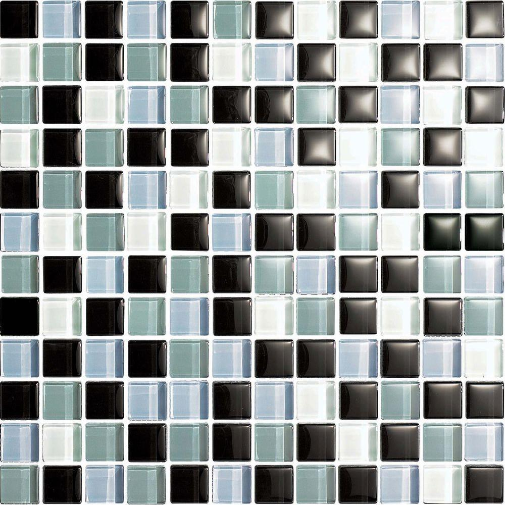 Epoch Architectural Surfaces Color Blends Joven-1604 Gloss Mosaic Glass Mesh Mounted Tile - 4 in. x 4 in. Tile Sample-DISCONTINUED