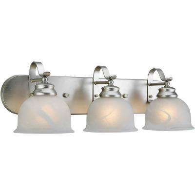 Burton 3-Light Brushed Nickel Bath Vanity Light