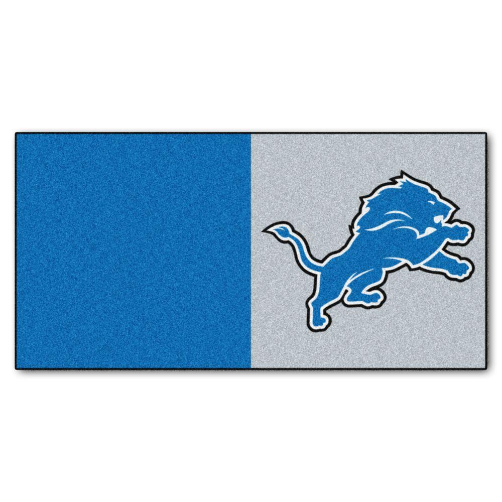 pretty nice 8c2ff 8c73e FANMATS NFL - Detroit Lions Blue and Grey Nylon 18 in. x 18 in. Carpet Tile  (20 Tiles/Case)