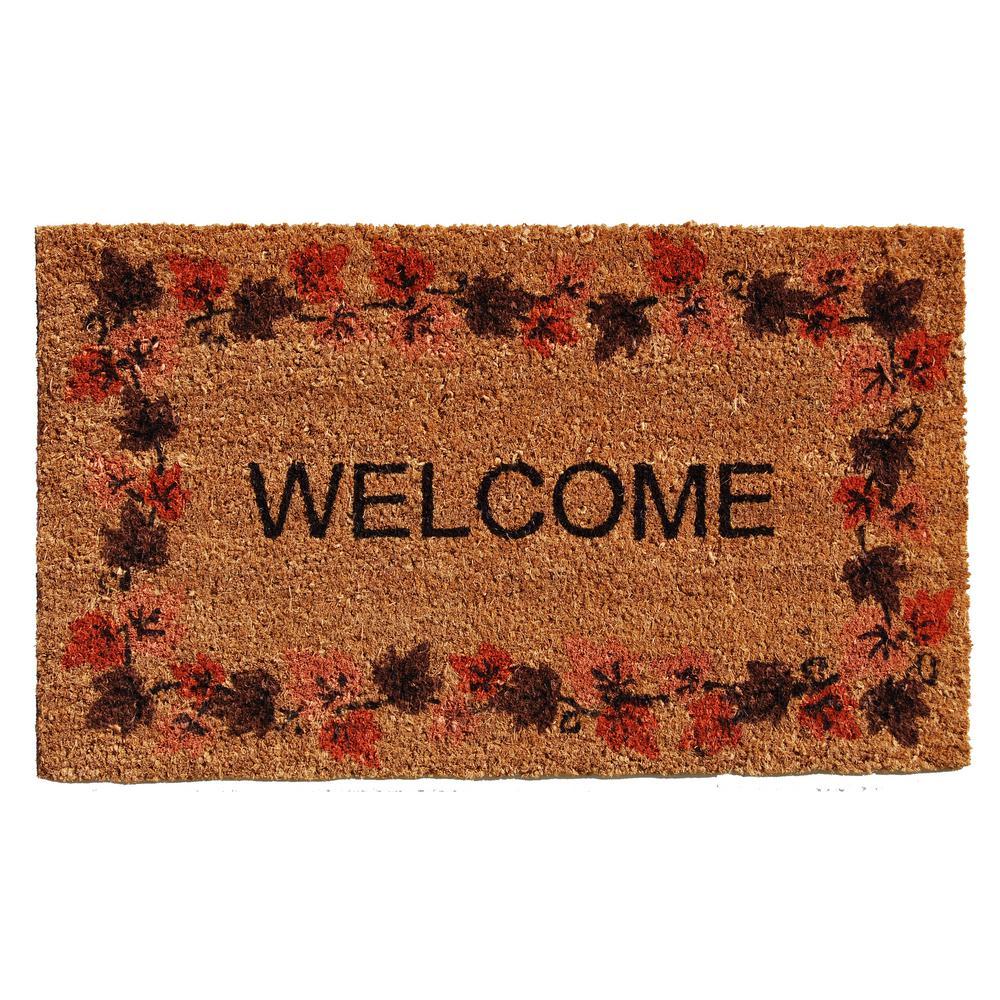 Autumn Welcome Door Mat 17 in. x 29 in.