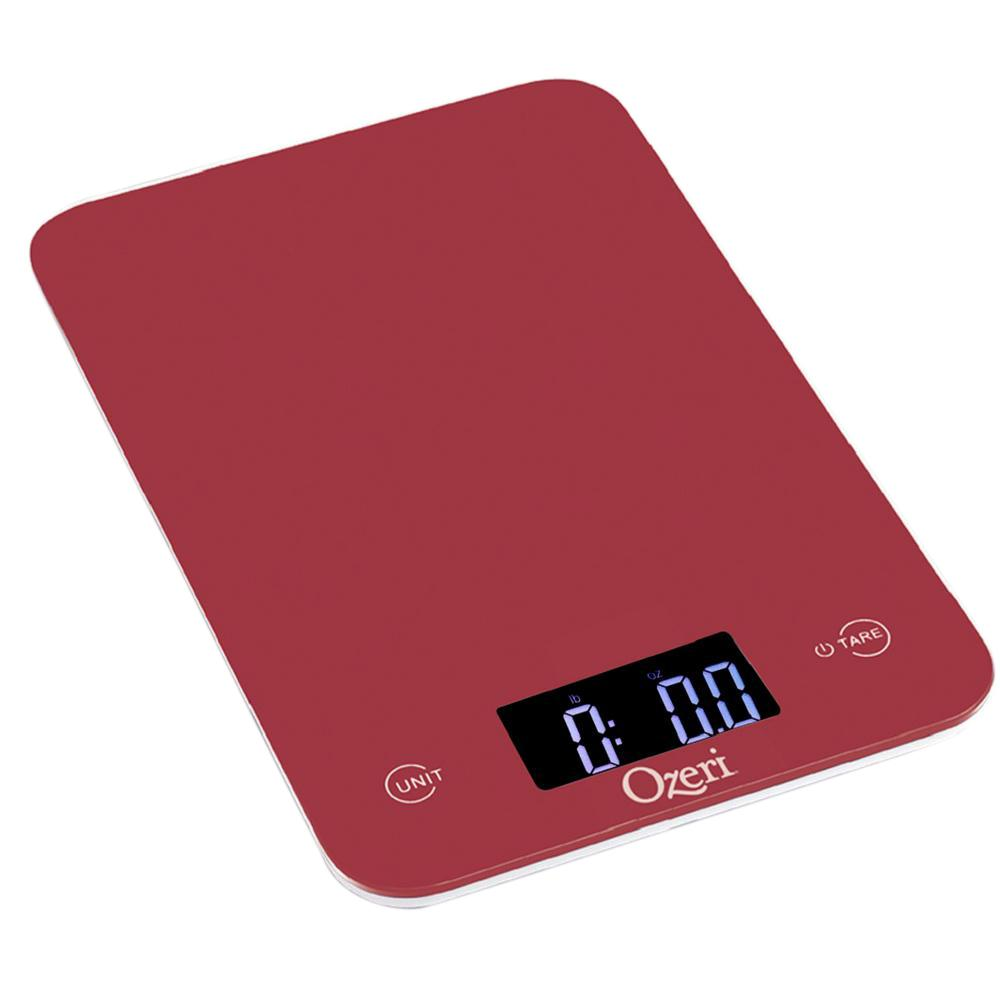 Touch Professional Digital Kitchen Scale (12 lbs. Edition), Tempered Glass in