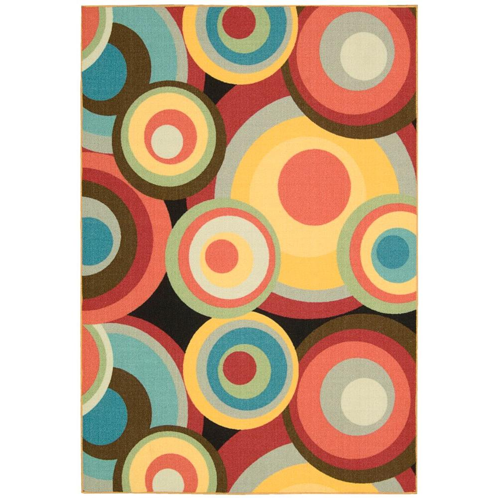 Nourison Overstock Gotta Get it Multicolor 4 ft. 6 in. x 6 ft. 6 in. Area Rug-DISCONTINUED