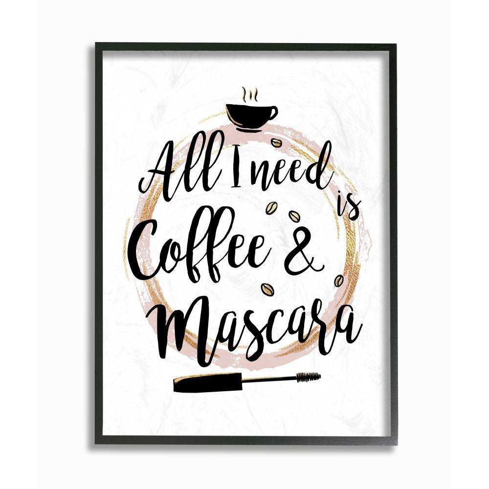 Stupell Industries 16 In X20 In Coffee And Mascara Fashion Designer Pink Gold Word Design By Ziwei Liframed Wall Art Ygg 151 Fr 16x20 The Home Depot