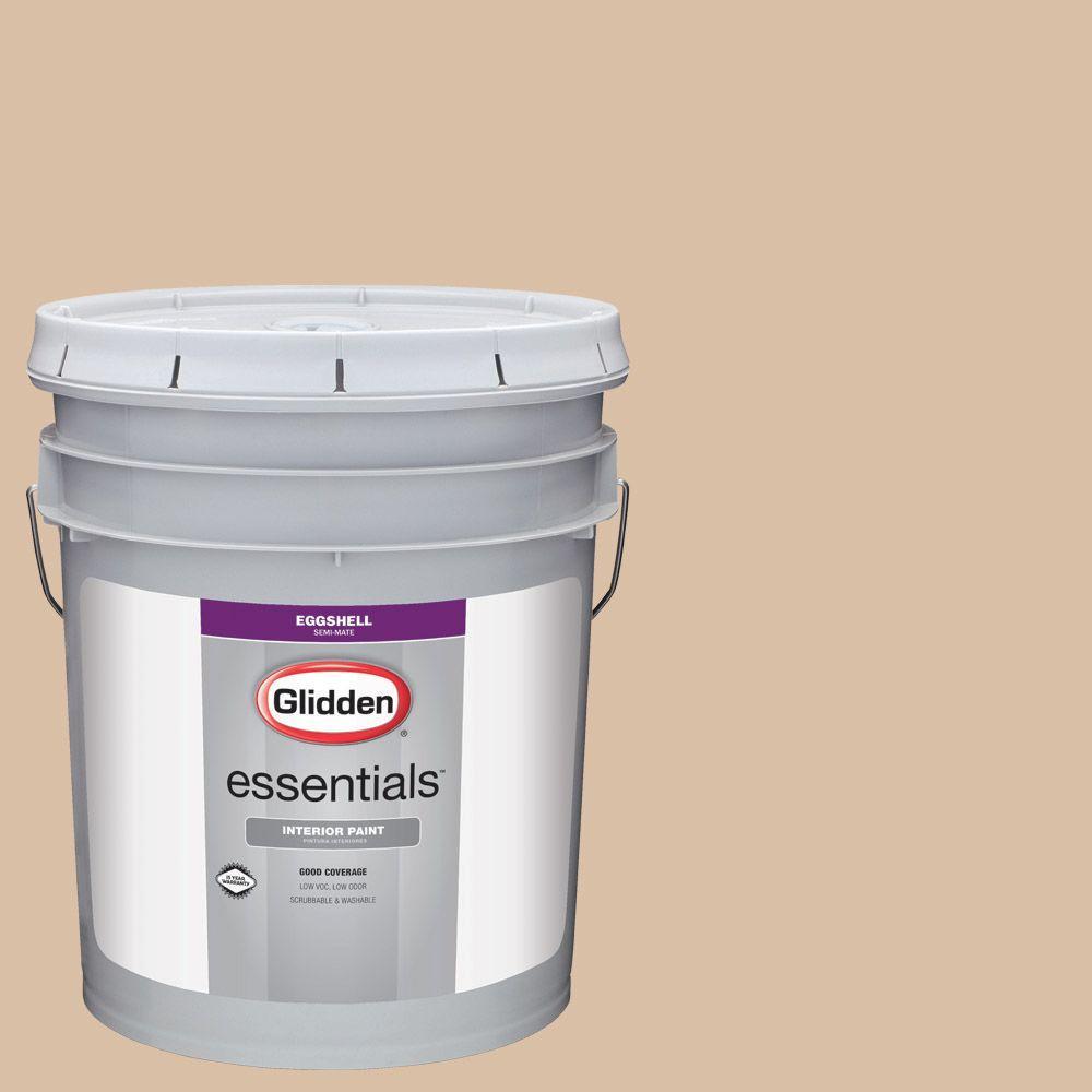Glidden Essentials 5 Gal Hdgwn11 Mocha Mauve Flat Interior Paint Hdgwn11e 05fn The Home Depot