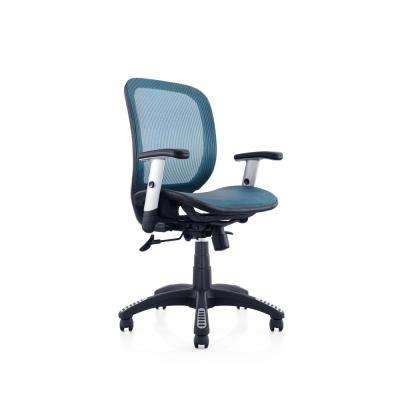 Blue Mesh Office Chair