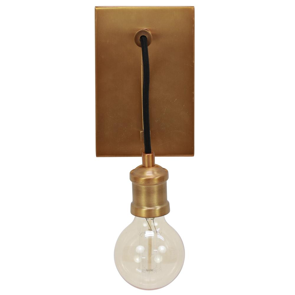Mills 6 in. Gold Sconce