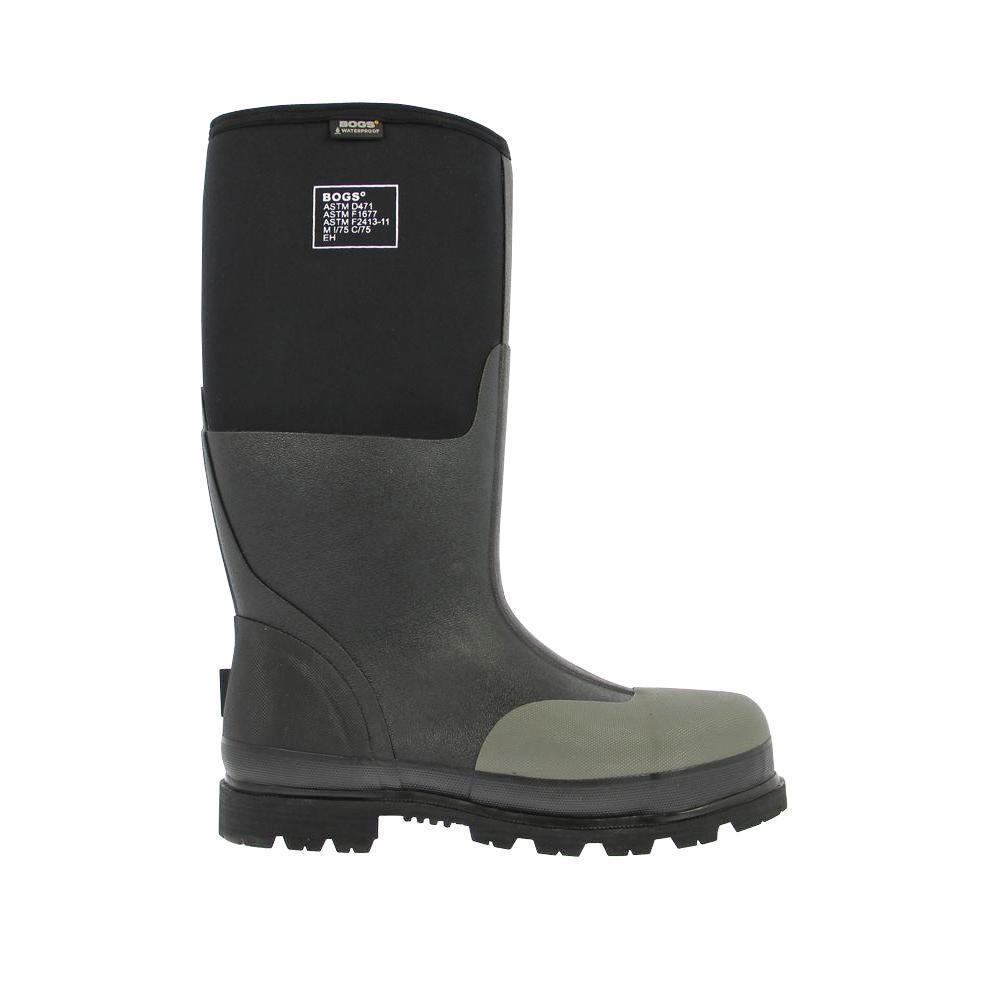 Forge Steel Toe Men 16 in. Size 13 Black Waterproof Rubber with Neoprene Boot