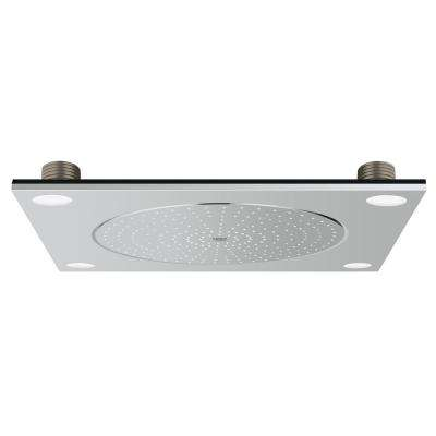 F-Series 1-Spray 20 in. Fixed Shower Head with Light in StarLight Chrome