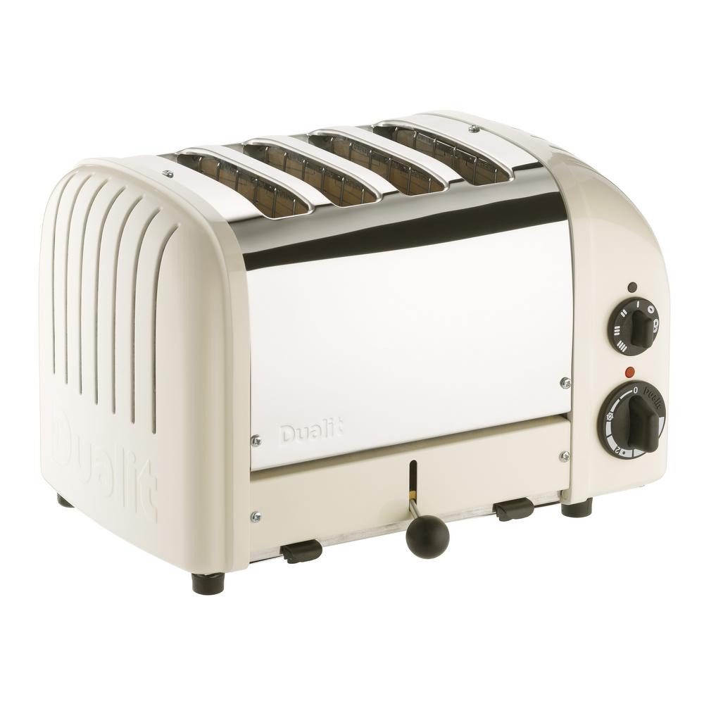 NewGen 4-Slice Canvas White Toaster
