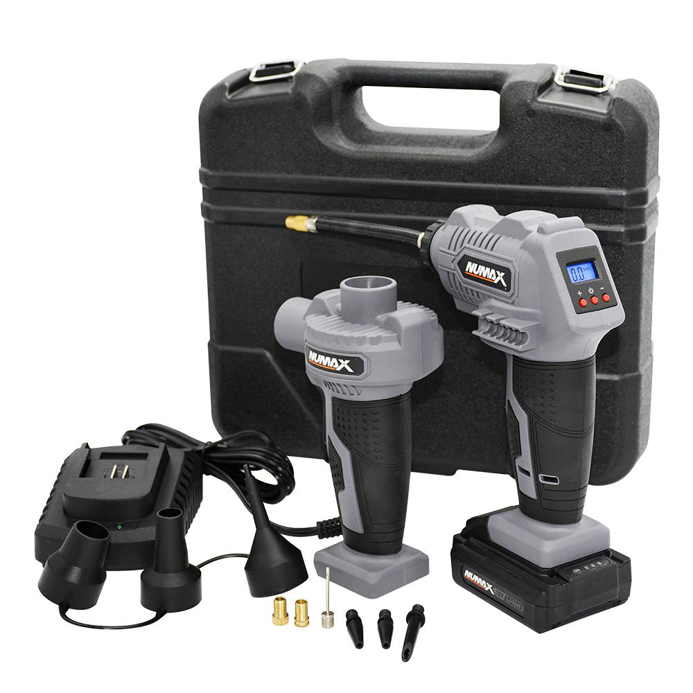 NuMax Portable 16-Volt Cordless Power Inflator and Air Pump Kit with Case