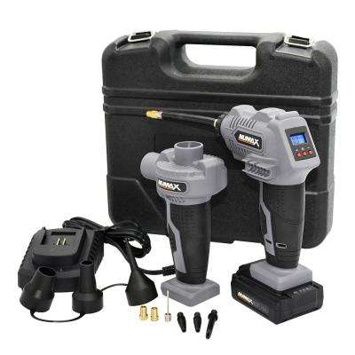 Portable 16-Volt Cordless Power Inflator and Air Pump Kit with Case