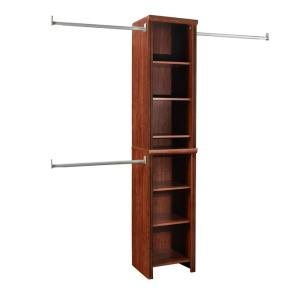 Impressions Narrow 48 in. W - 108 in. W Dark Cherry Wood Closet System