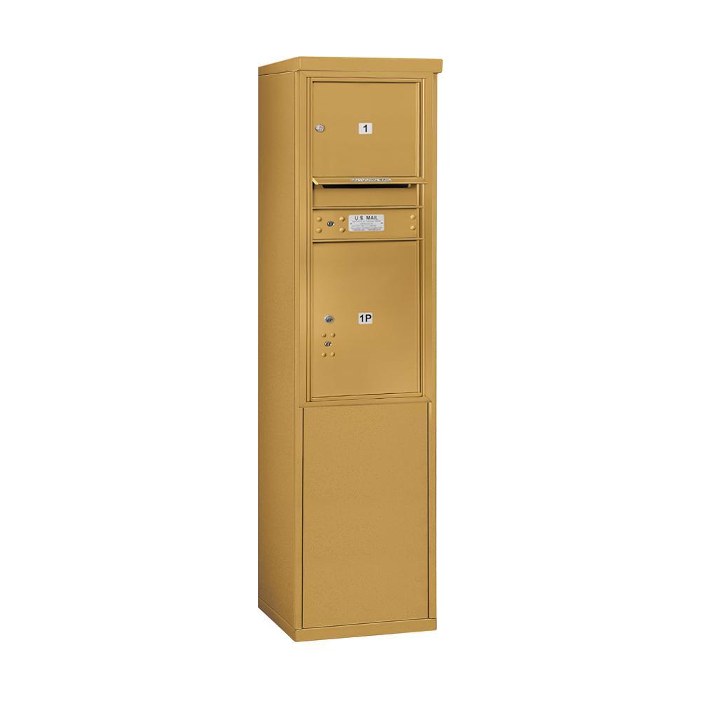 Salsbury Industries 3900 Horizontal Series 1-Compartment 1-Parcel Locker Free Standing Mailbox